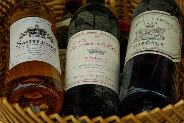 вина Margaux и Sauternes