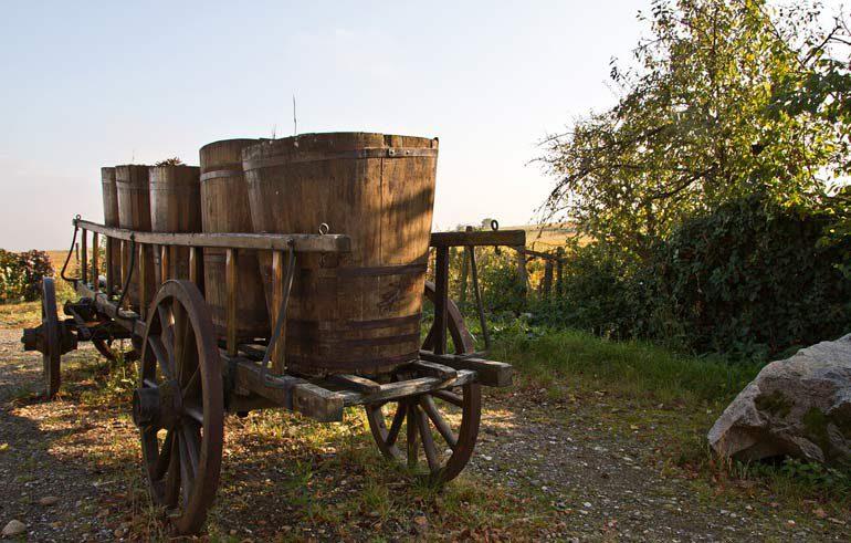 Транспортировка вина в Средние века